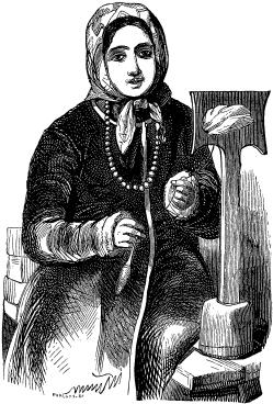VOLHYNIAN PEASANT-GIRL ENGAGED IN SPINNING