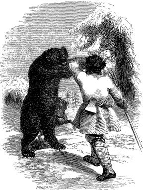 Peasant attacked by a Bear