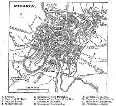 Map of The Moscow