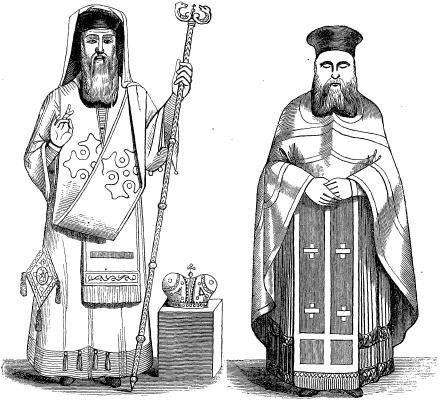 Costumes of the Greek Church- Bishop and Priest.